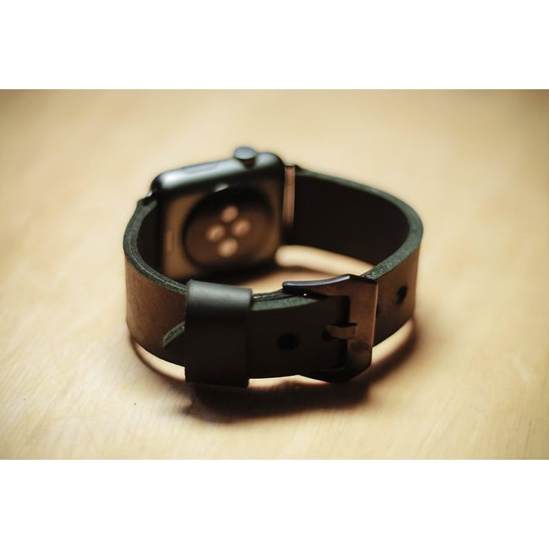 Ремешок для Apple Watch 38-42 black leather