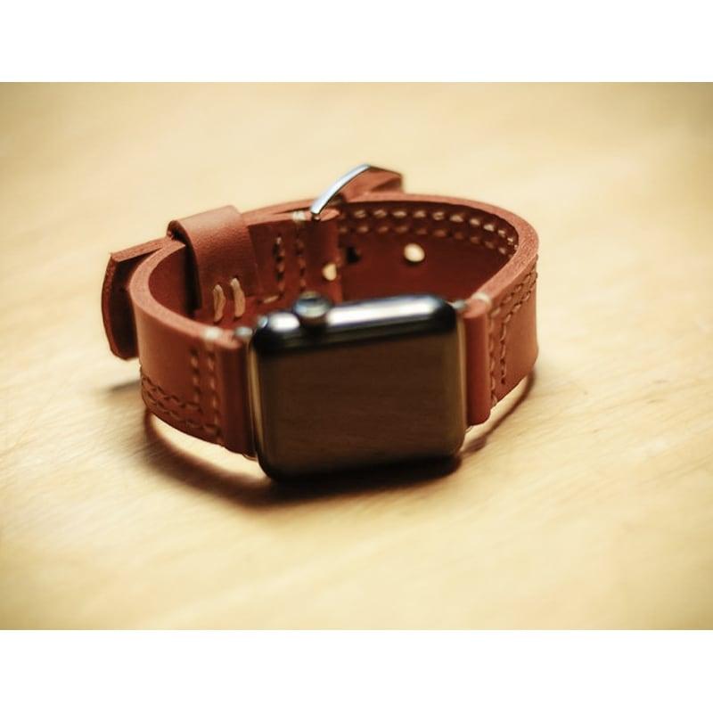 Кожаный ремешок для Apple Watch 38-42 brown leather