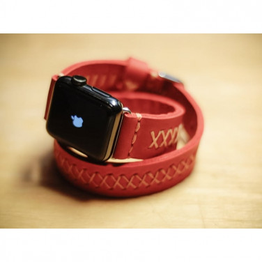 Ремешок для Apple Watch 38-42 red leather