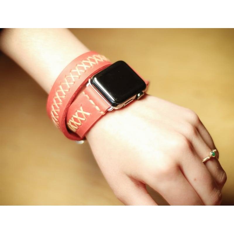 Ремешок для Apple Watch 38-42 red leather