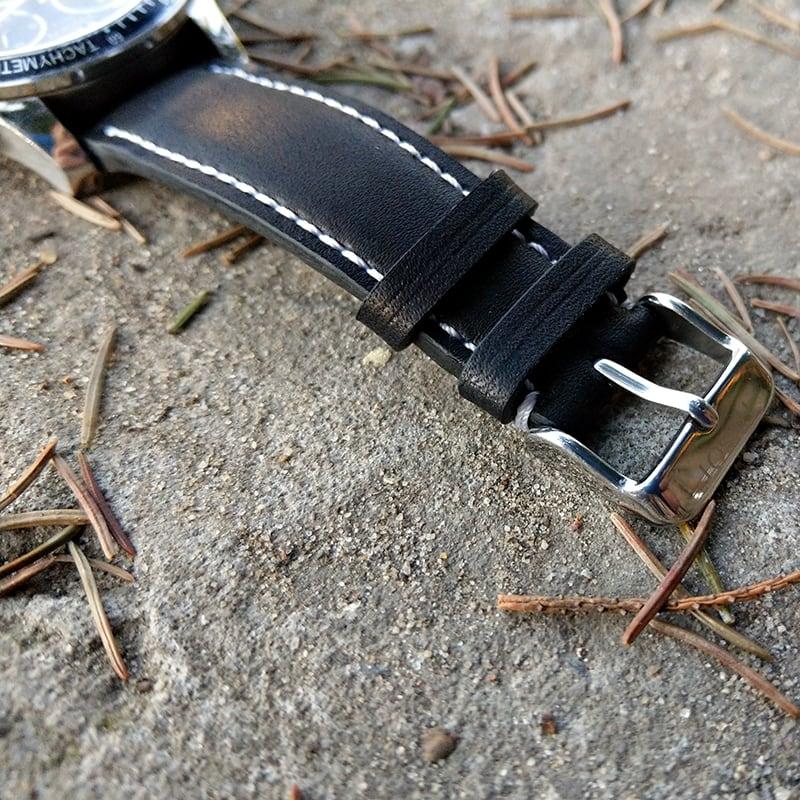 Ремешок для часов натуральная кожа Watchband Рattern black leather