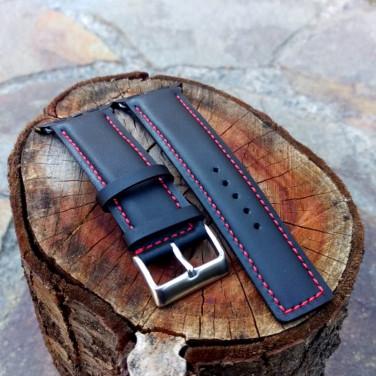 Кожаный ремешок для Apple Watch 42 black leather