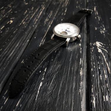 Ремінець для годинника Black Сrocodile leather
