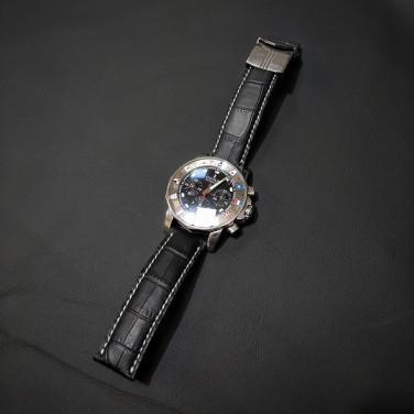 Ремешок для часов Black Python leather