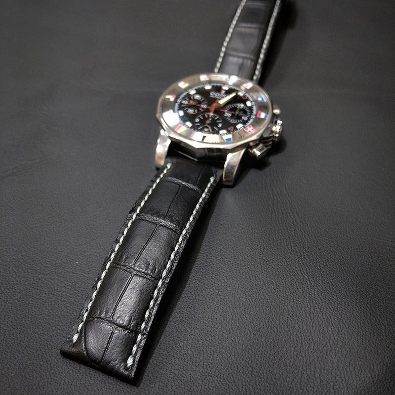 Ремінець для годинника Black Python leather