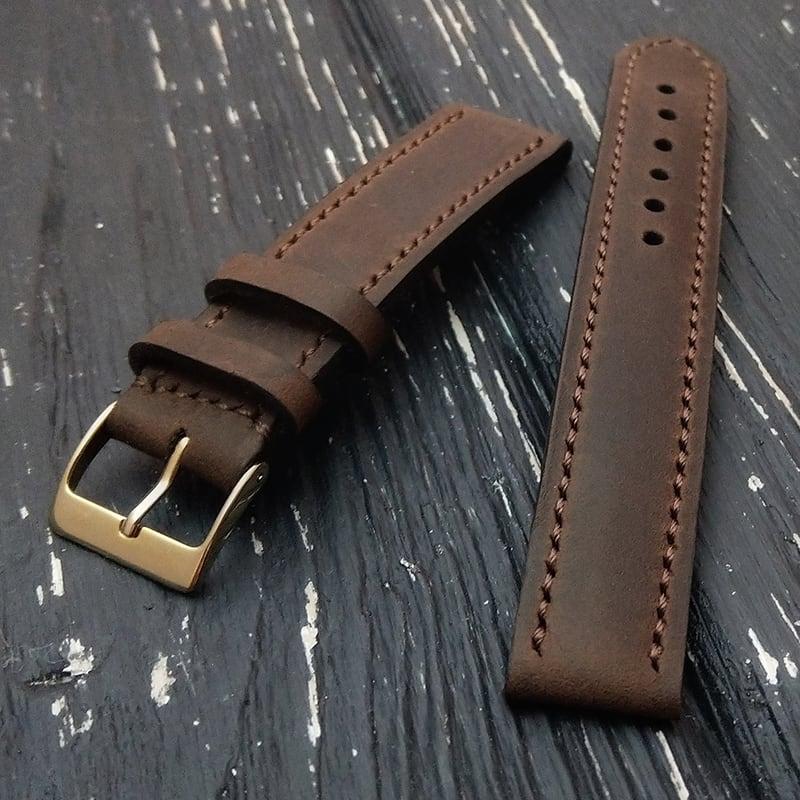 Кожаный ремешок для часов Cinnamon brown leather