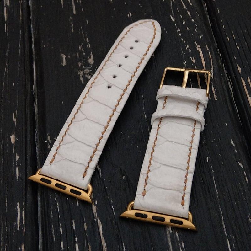 Елегантний шкіряний ремінець для Apple Watch Gray leather