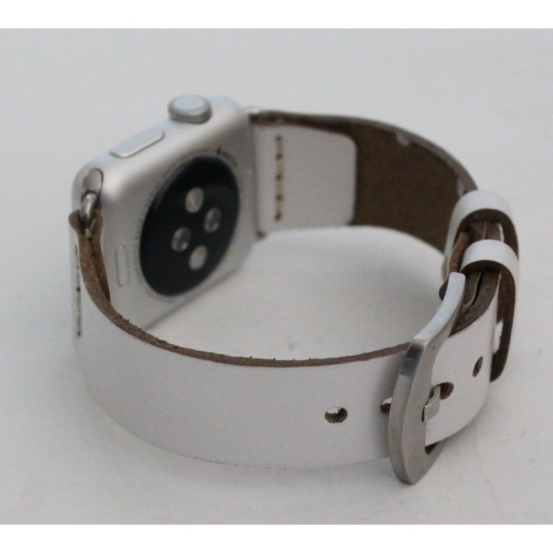 Шкіряний ремінець для Apple Watch 38-42 Elegant white leather