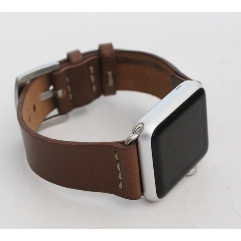 Шкіряний ремінець для Apple Watch 38-42 Brevity brown leather