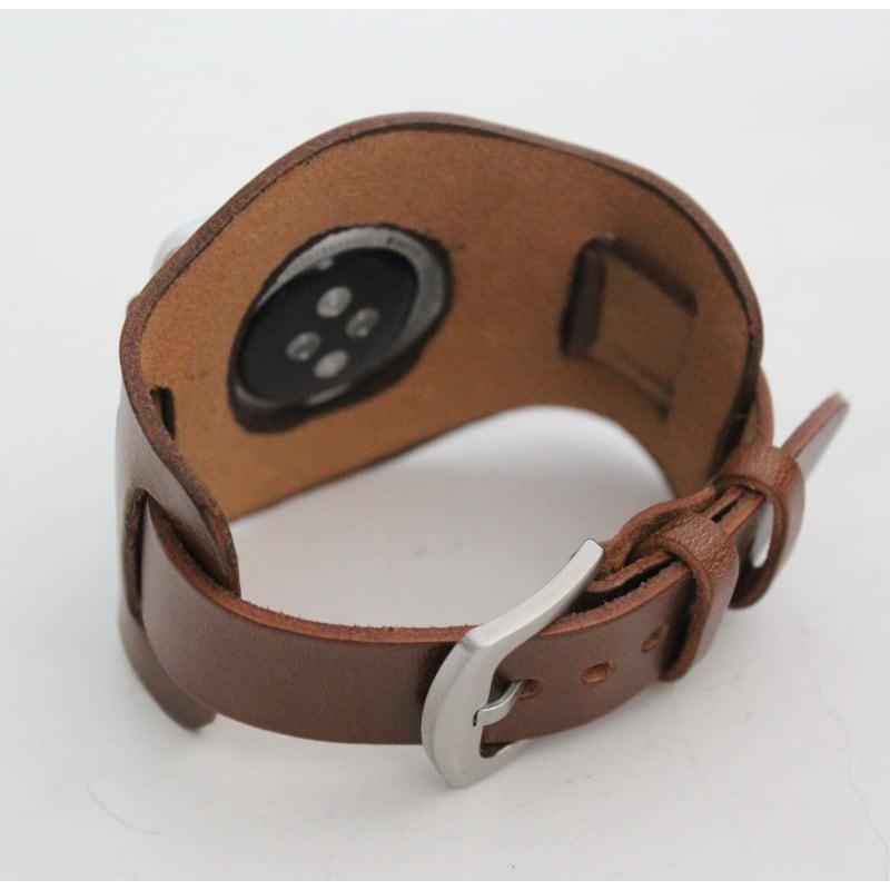 Шкіряний ремінець для Apple Watch 38-42 Cappuccino brown leather
