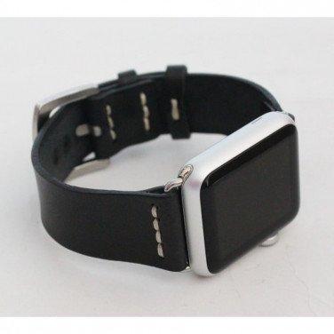 Кожаный ремешок для Apple Watch 38-42 Classic black leather