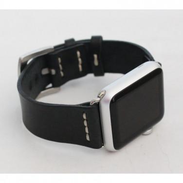 Кожаный ремешок для Apple Watch 40-44 Classic black leather