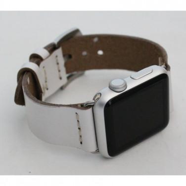 Кожаный ремешок для Apple Watch 38-42 Elegant white leather