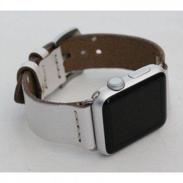 Шкіряний ремінець для Apple Watch 40-44 Elegant white leather