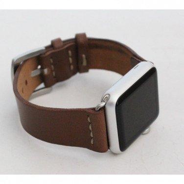 Кожаный ремешок для Apple Watch 38-42 Brevity brown leather