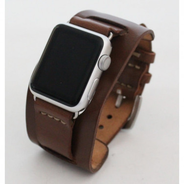 Кожаный ремешок для Apple Watch 40-44 Mocha brown leather