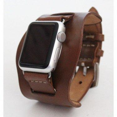 Кожаный ремешок для Apple Watch 40-44 Cappuccino brown leather