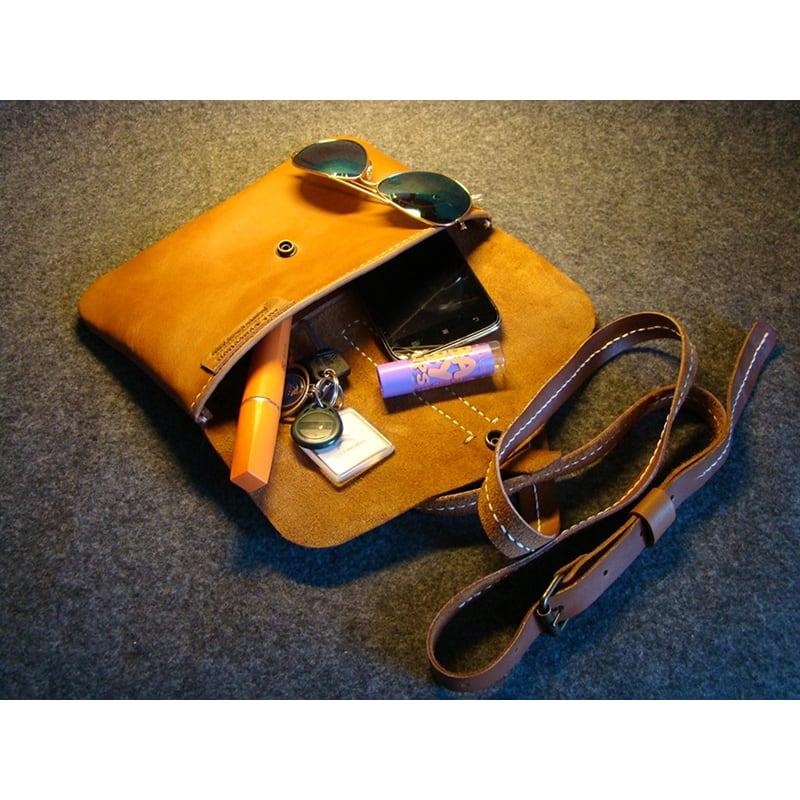 Сумка женская кожаная Wrislet yellow leather