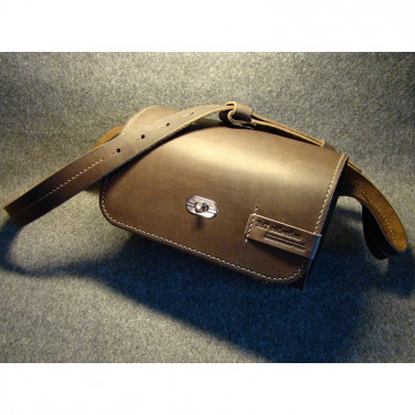 Сумка женская Вarrel brown leather