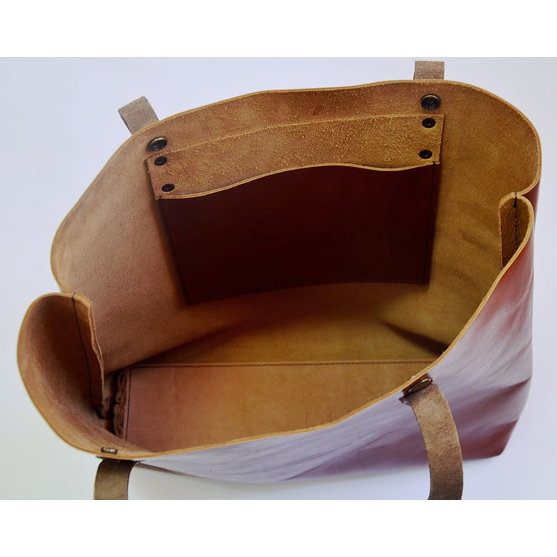 Сумка женская Tote Flowers brown leather