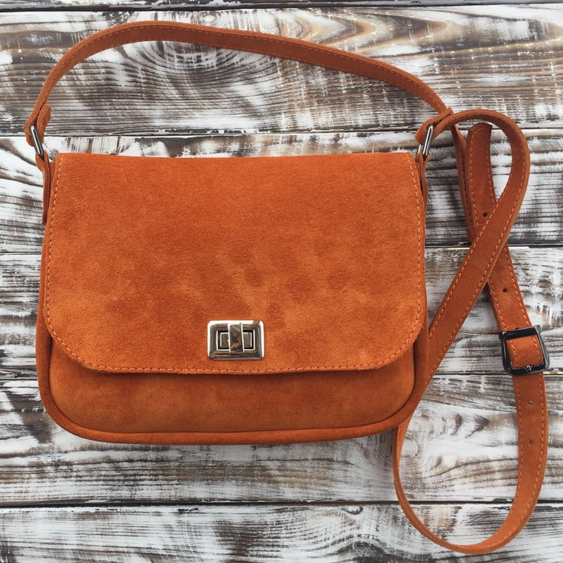 Сумка женская Cross-body bag brown leather
