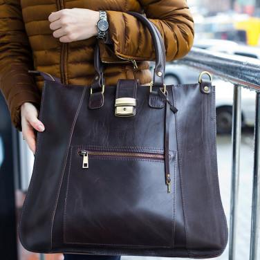 Сумка жіноча шкіряна Satchel bag brown leather