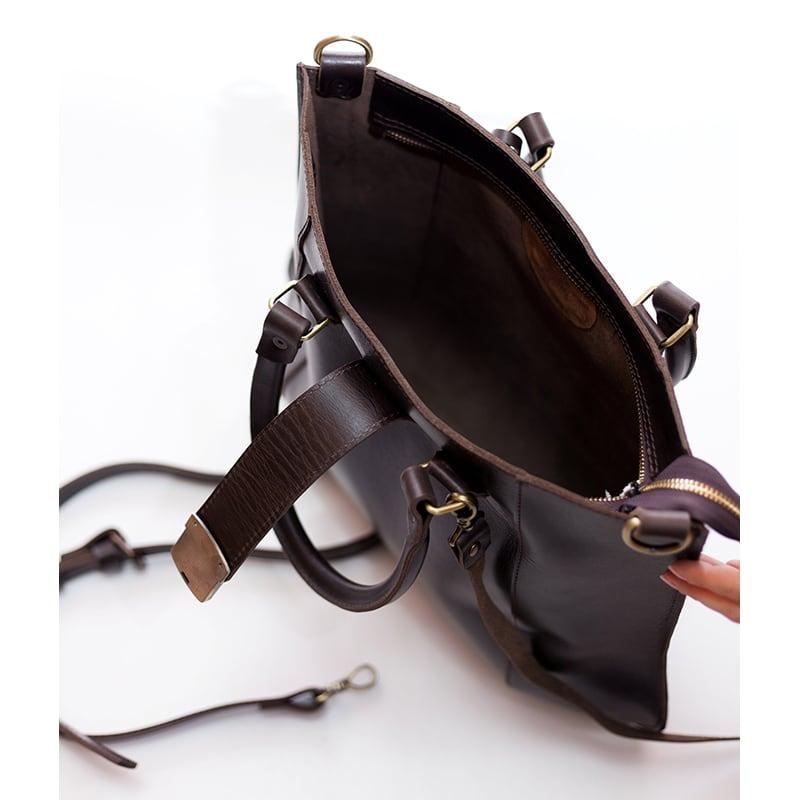 Сумка женская кожаная Satchel bag brown leather