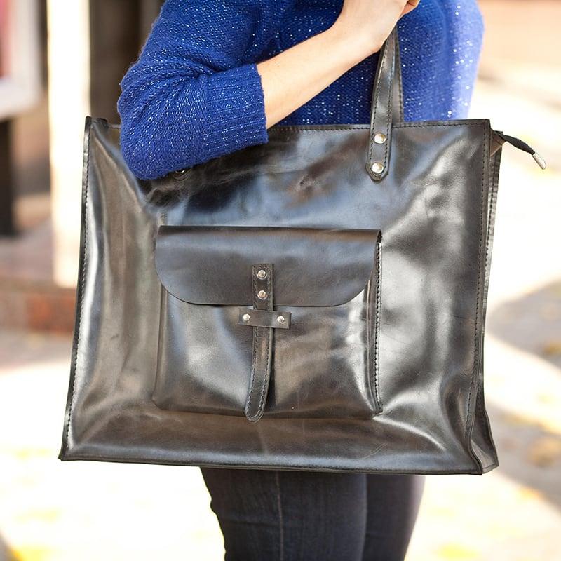 Сумка жіноча шкіряна Tote bag brown leather