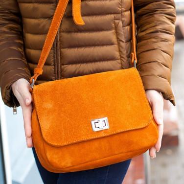 Сумка жіноча Cross-body bag brown leather