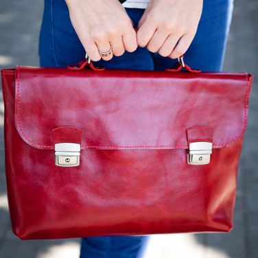 Сумка женская Satchel red leather
