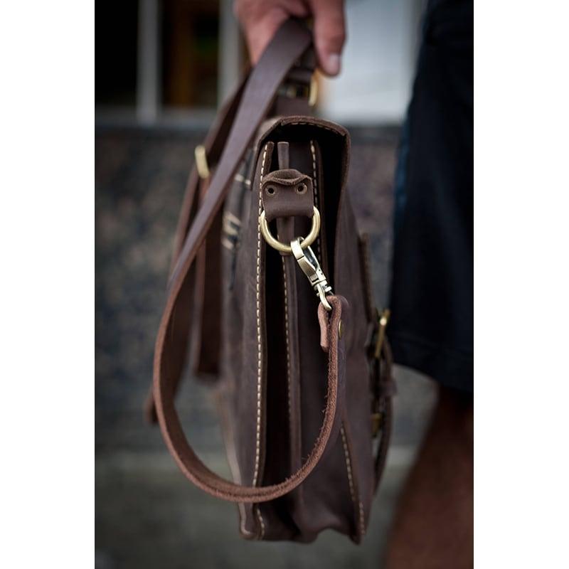 Сумка жіноча шкіряна Satchel brown leather