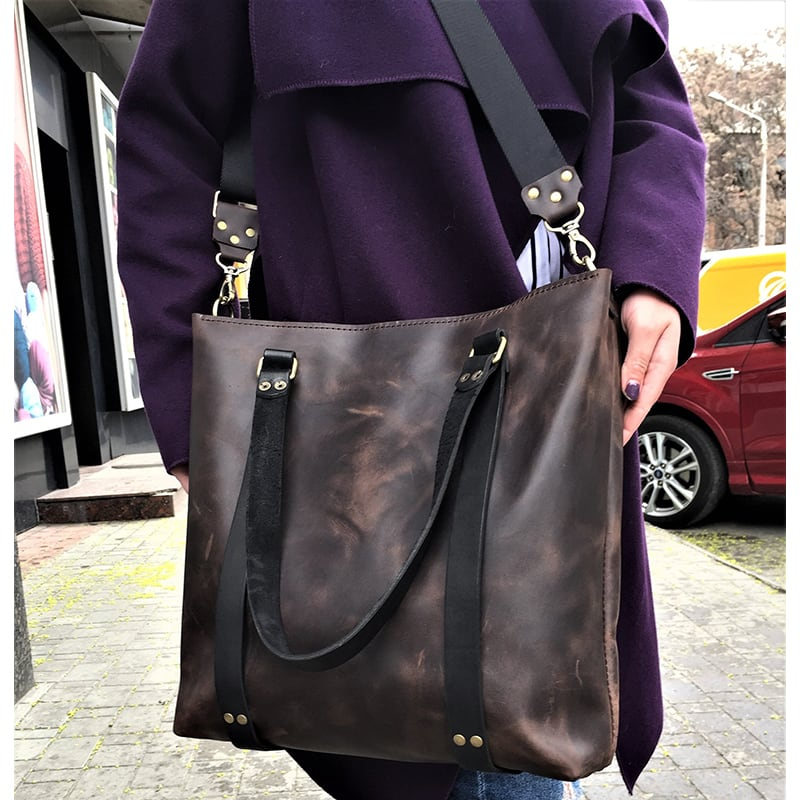 Сумка жіноча Tote bag brown leather