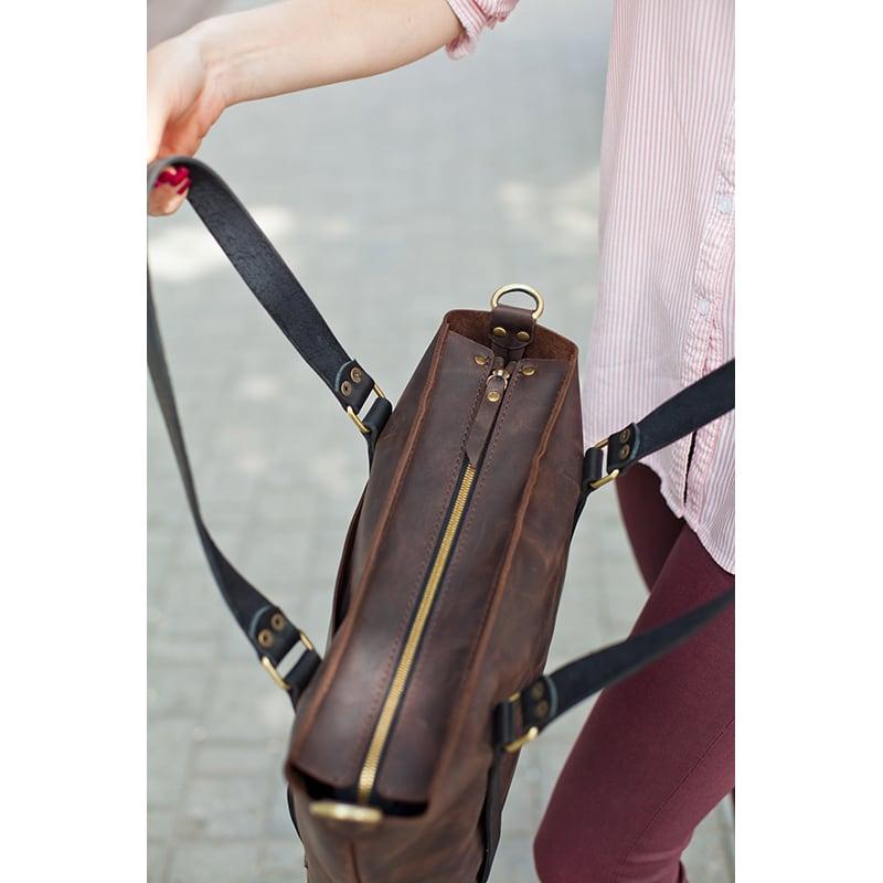 Сумка женская Tote bag brown leather