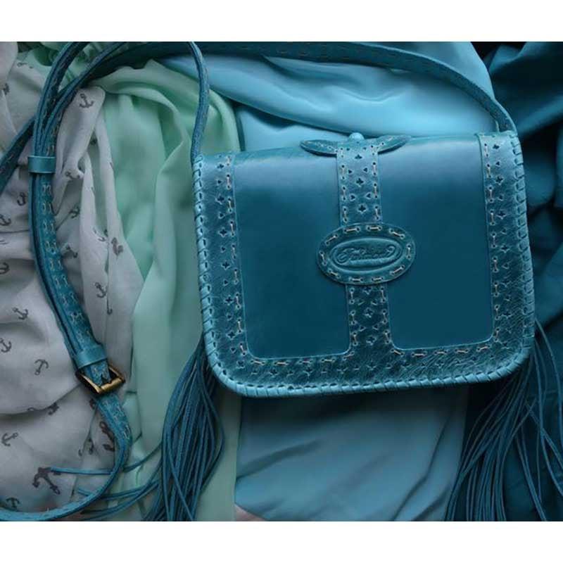 Женская сумка Saddle Bag Lagoon blue leather