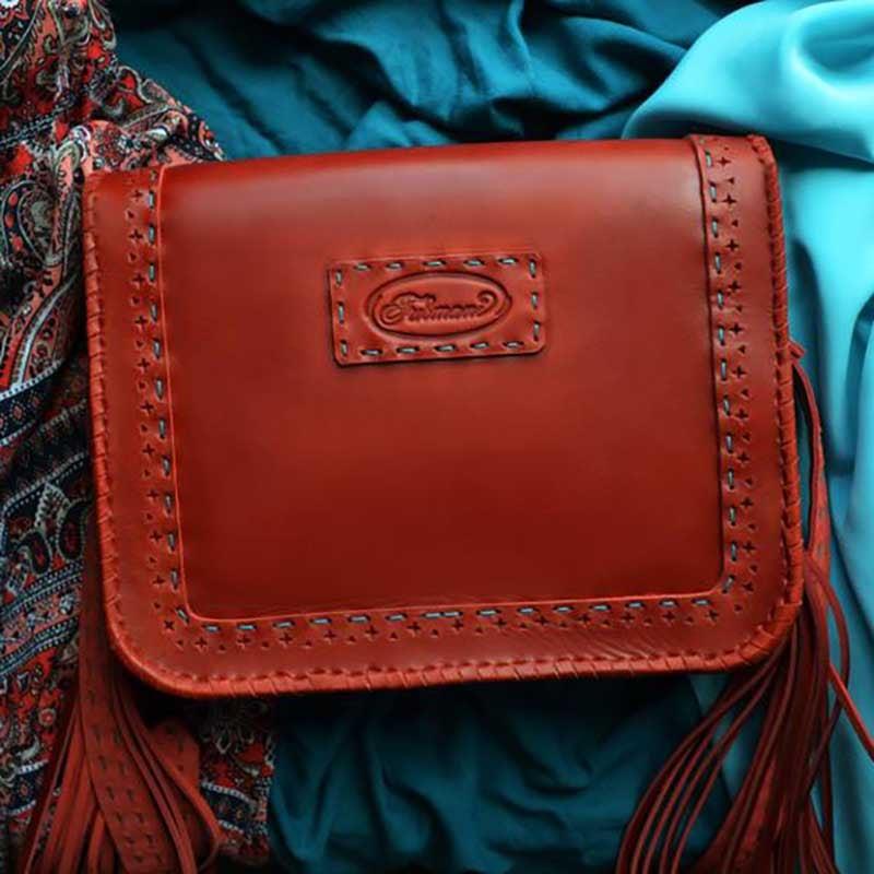 Сумка женская Saddle Bag Maharani brown leather