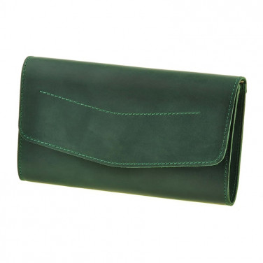 Сумка жіноча Combi Clutch green leather