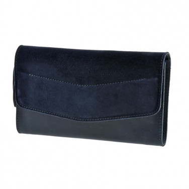 Сумка жіноча Combi Clutch Velours dark blue leather