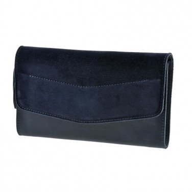Сумка женская Combi Clutch Velours dark blue leather