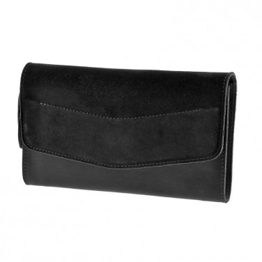 Сумка женская Combi Clutch Velours black leather