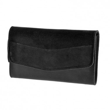 Сумка жіноча Combi Clutch Velours black leather