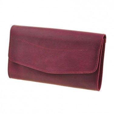 Кожаная сумка женская Combi Clutch burgundy leather