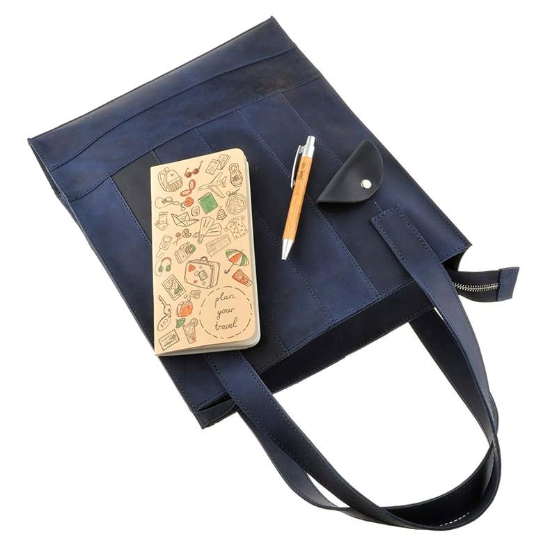 Сумка женская Shopper blue leather