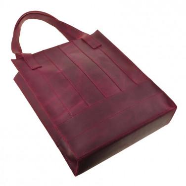 Сумка женская Shopper Bordeaux leather
