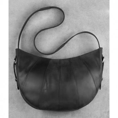 Жіноча шкіряна сумка через плече Нobo Bag black leather