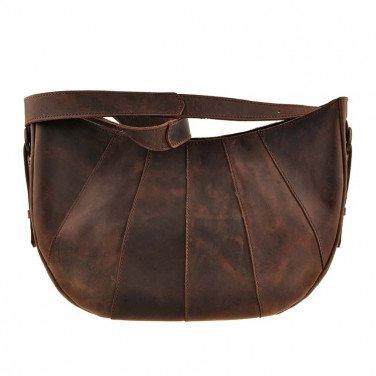 Женская кожаная сумка через плечо Нobo Вag brown leather