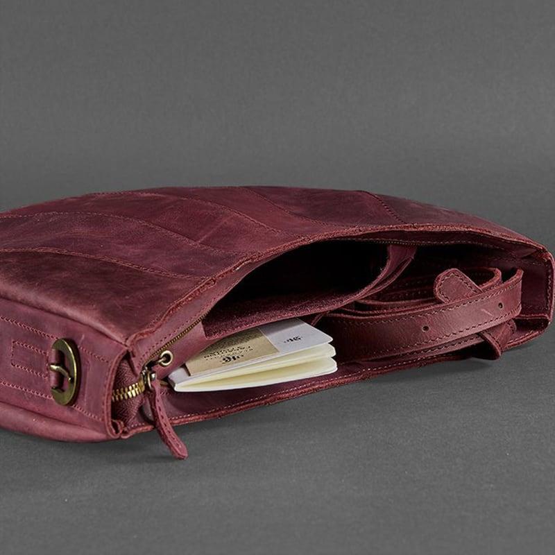 Сумка кожаная Нobo Вag vinous leather