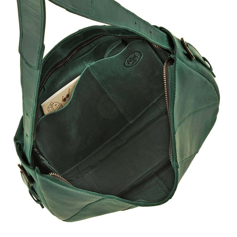 Сумка шкіряна Нobo Bag green leather