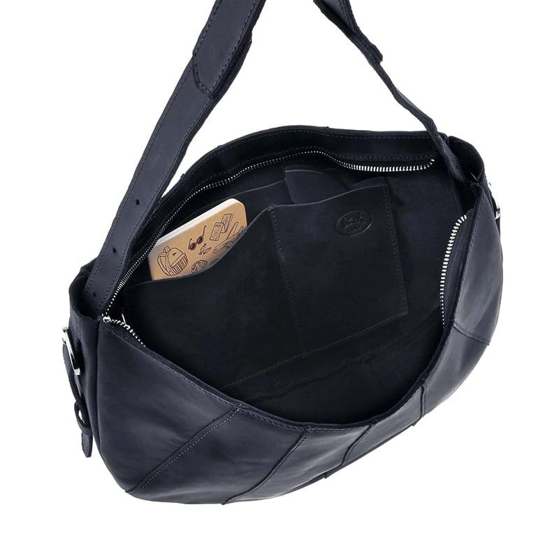 Сумка шкіряна жіноча Нobo Bag dark blue leather