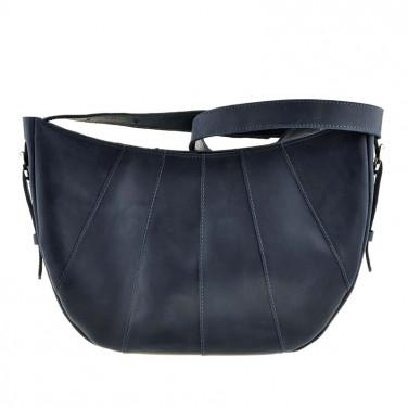 Сумка кожаная женская Нobo Вag dark blue leather