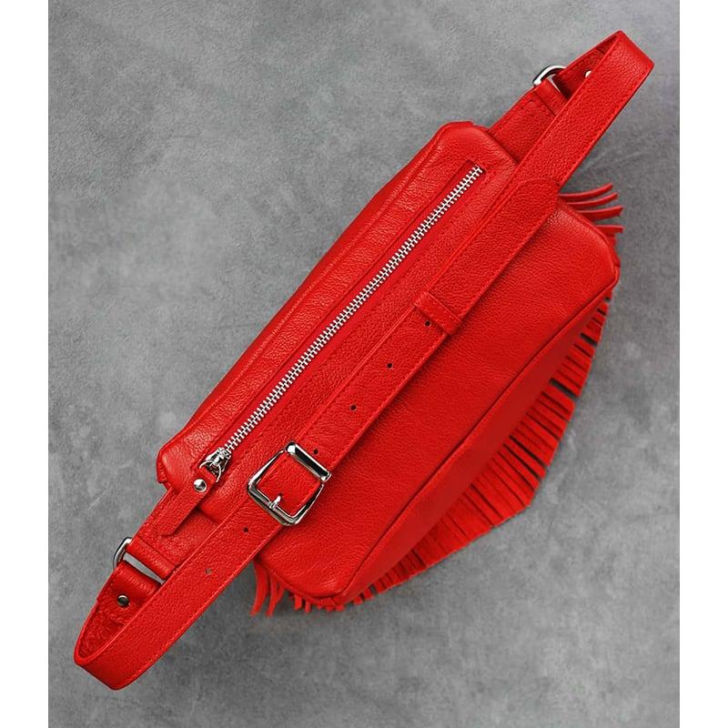 Сумка женская Lumbar bag red leather